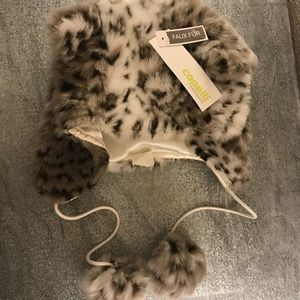 [Capelli New York] Animal faux fur hat with ears